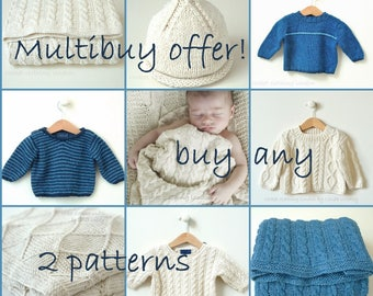 OFFER! Choose any 2 patterns