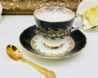Crown Staffordshire teacup and saucer