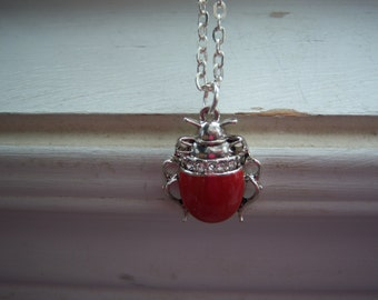 Bug Necklace -Beetle Necklace - Free Gift With Purchase