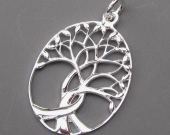 Large Tree of Life Sterling Silver Charm, Tree of Life Pendant, Sterling Silver Charm, Necklace Pendant, Necklace Charm, Stock 3