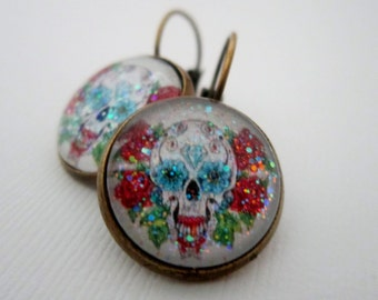 Day O' Dead Sugar Sugar Skull Earrings