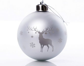Personalised Light-up Reindeer Bauble