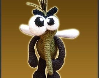 Amigurumi Pattern Crochet Mr Mosquito Doll DIY Digital Download