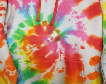 Rainbow Tye Dye Pullover hoody