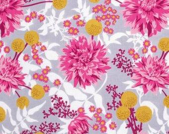 Joel Dewberry Fabric, Wander, Moon Garden, Rosetta, Floral, cotton quilting fabric - HALF YARD