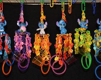 Stitch: Sugar Glider Toys, Bird Toy, Mini Mobile, Small Bird Toy, Primate Toy, Marmoset Toy, Exotic Animal Toy, Small Pet Toy, Parrot Toy