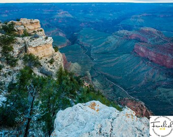 """Magnificent Grand Canyon """"South Rim Chasm"""" Fine Art Photograph (9.5"""" x 13.25"""" print on 14"""" x 18"""" archival board) Limited Edition Signed"""