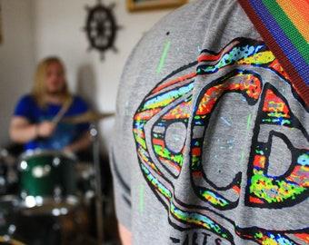 FREEDOM&EQUALITY / OCDARTS Designer Artswear T-Shirt Grey