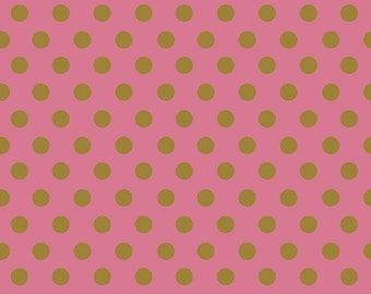 Raspberry Pink and Gold Dot On Trend Riley Blake Fabric by the Yard