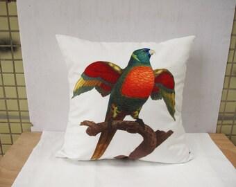 Decorative Parrot Velvet pillow cover throw pillow cases  bird pillow cover art pillow double sides design