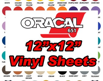2 FOR 1 SALE Oracal 651 Vinyl Sheets 12x12 Sheets Outdoor Adhesive Vinyl Sheets
