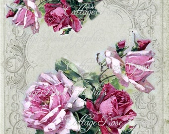 Large digital download ADD your own text Bouquet des Fleurs image BUY 3 get one FREE