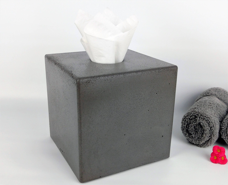Grey Concrete Tissue Box Cover    Kleenex Tissue Box Cover