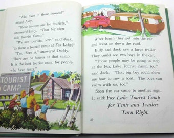Down Our Way Vintage 1940s or 1950s Children's School Reader or Textbook by Lyons and Carnahan