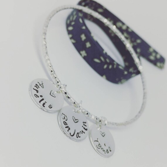 Rush custom silver - plated shimmering with 3 prints custom 925 Silver Bracelet