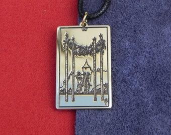 Amulet - Tarot Card  Four Of Wands