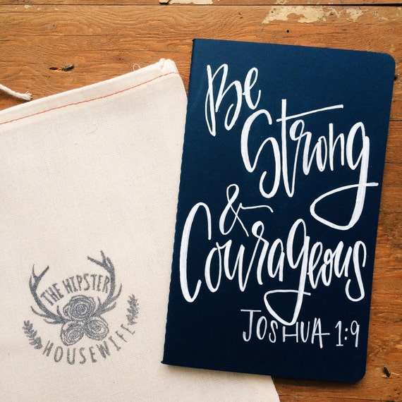 Father's Day gift, Men's prayer journal, gift for husband, be strong and courageous Joshua 1:9, scripture notebook, bible journal for dad