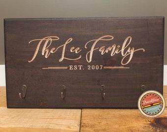 KEY HOLDER - Key Rack   Home Living   Home Decor   Housewarming Gift   Personalized   Custom   Wedding Gift   Newlywed   Wood   Anniversary