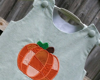 Patchwork Pumpkin Chambray Boy's Jon Jon