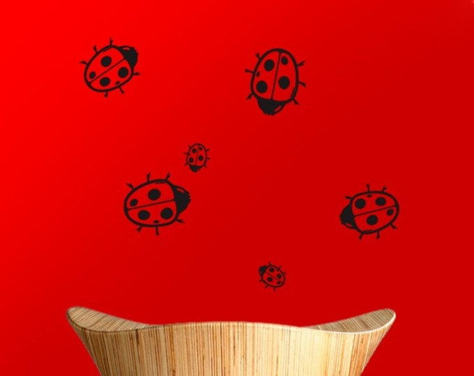 Ladybug Stickers, Ladybird Wall or Window Decals