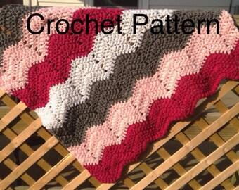 Baby afghan crochet pattern, crochet baby blanket pattern, crochet blanket pattern, easy baby blanket pattern, chevron baby blanket