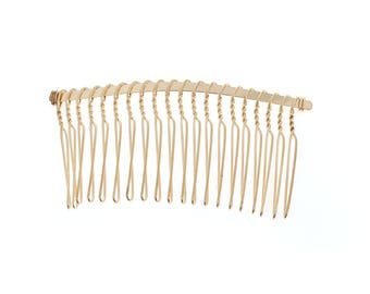 free shipping in UK - Pack of 6 Gold Hair Combs Hair findings