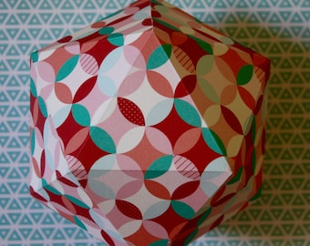 GRAPHIC#12 - Paper suspension - Pink and red geometrical pattern