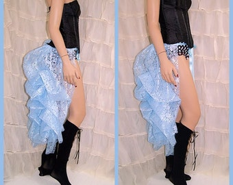 Pastel Baby Blue Lace Bustle Wrap MTCoffinz - All Adult Sizes - Ready to Ship - 25% SALE