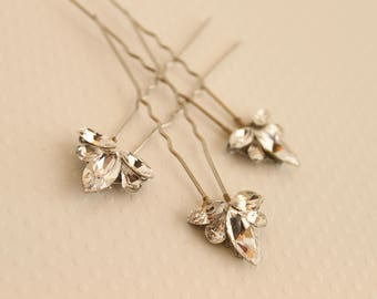 Bridal Hairpins, Crystal Hairpins, Swarovski Hairpins, Hairpins, Swarovski Rhinestone Hairpins, Wedding Hair Pins, Bridal Hair Pins