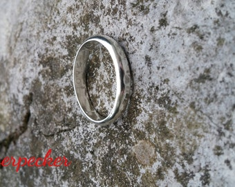 Custom Made Mens Ring, Plain Band Ring, Sterling Silver Ring