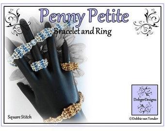 Beading Pattern, Tutorial, Bracelet - PENNY PETITE
