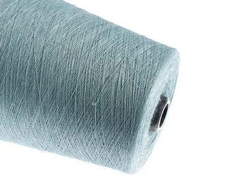 0,5kg linen yarn linen thread flax 1ply 2ply  3ply yarn   aqua color yarn on tube