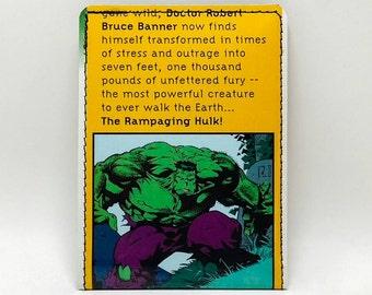 Sewn Comic Book Wallet - The Hulk Design 19