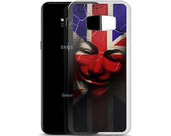 Guy Fawkes Mask Union Jack British Flag Samsung Case