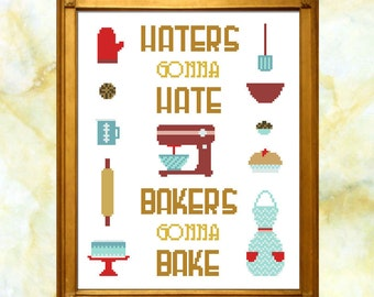 Bakers Gonna Bake Cross Stitch Pattern PDF Download