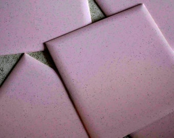 Mid Century Tilemaster Plastic Interlocking Decorative Tile Squares Pink