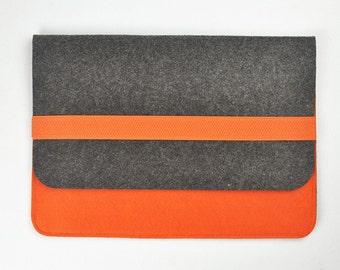 Dell tablet case ,7 inch tablet case,   8 inch tablet case, 10 inch tablet case, Felt tablet sleeve, Felt tablet bag. Orange bags, a192