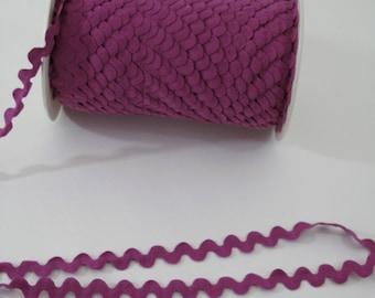 "Rickrack Sewing Trim, Magenta Purple Ric Rac, Serpentine Trim,  11/16"" wide, 18 mm wide, 3 yards,"