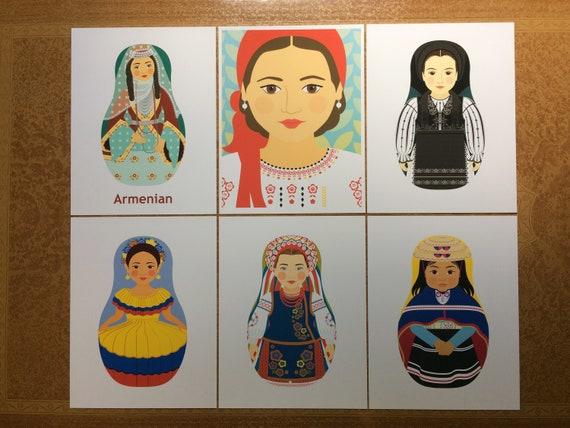 Six Cultural Dress Proofs & Seconds Prints