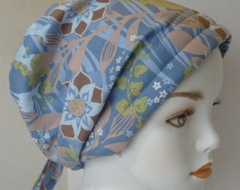 Cancer Chemo Hair Loss Scarf Hat Turban Peaceful Tranquil Silhouettes of Deer