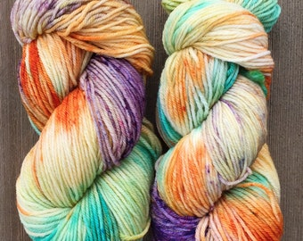 Hand Dyed Yarn  DK Weight Super soft 100 g   My Sharona