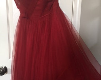 Alfred Angelo Red Prom Gown