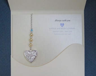 Wedding Bouquet Memory Charm, Photo Memorial Charm (opening locket) gifts for brides