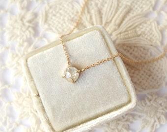 White Rose Cut Diamond Necklace - Deposit