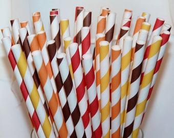 30 it's FALL Ya'LL  AssorTeD Paper Straws, Paper Drinking Straws, Party,  Wedding, Birhday, Events, BirThDay