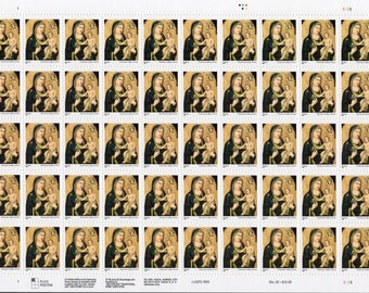 1995 Madonna and Child - Giotto -(50) Mint-Unused- Scott 3003- Full Sheet