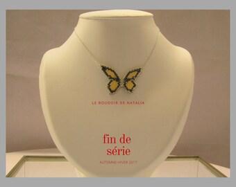 """Winter garden"" Butterfly Necklace"