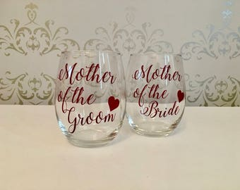 Mother of the bride, mother of the groom, mother of the bride gift, mother of the groom gift, mother of the bride wine glass