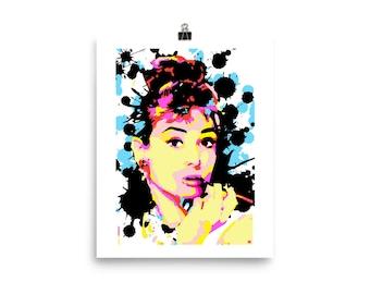 Audrey Hepburn Pop Art Print Wall Art Home Decor