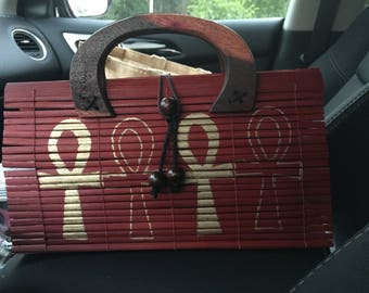 Custom hand painted bamboo bags